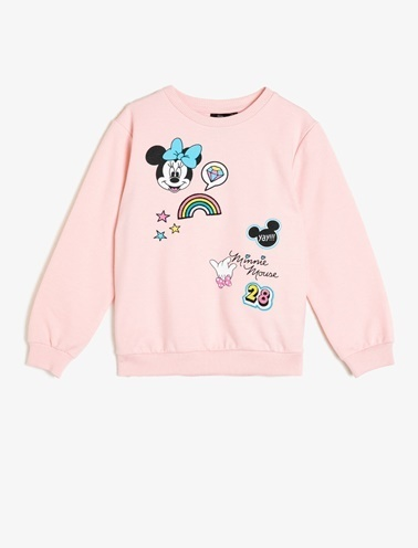 Koton Kids Minnie By Koton Sweatshirt Pembe